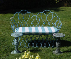 Blue Loops Outdoor Bench-SOLD