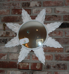White Starburst Mirror-SOLD