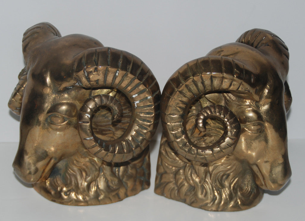 Rams Head Bookends-SOLD