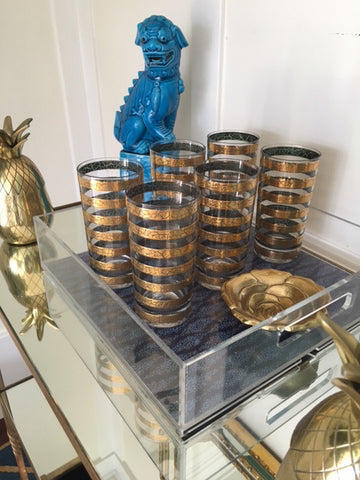 Gold Striped Vintage Tumblers-SOLD