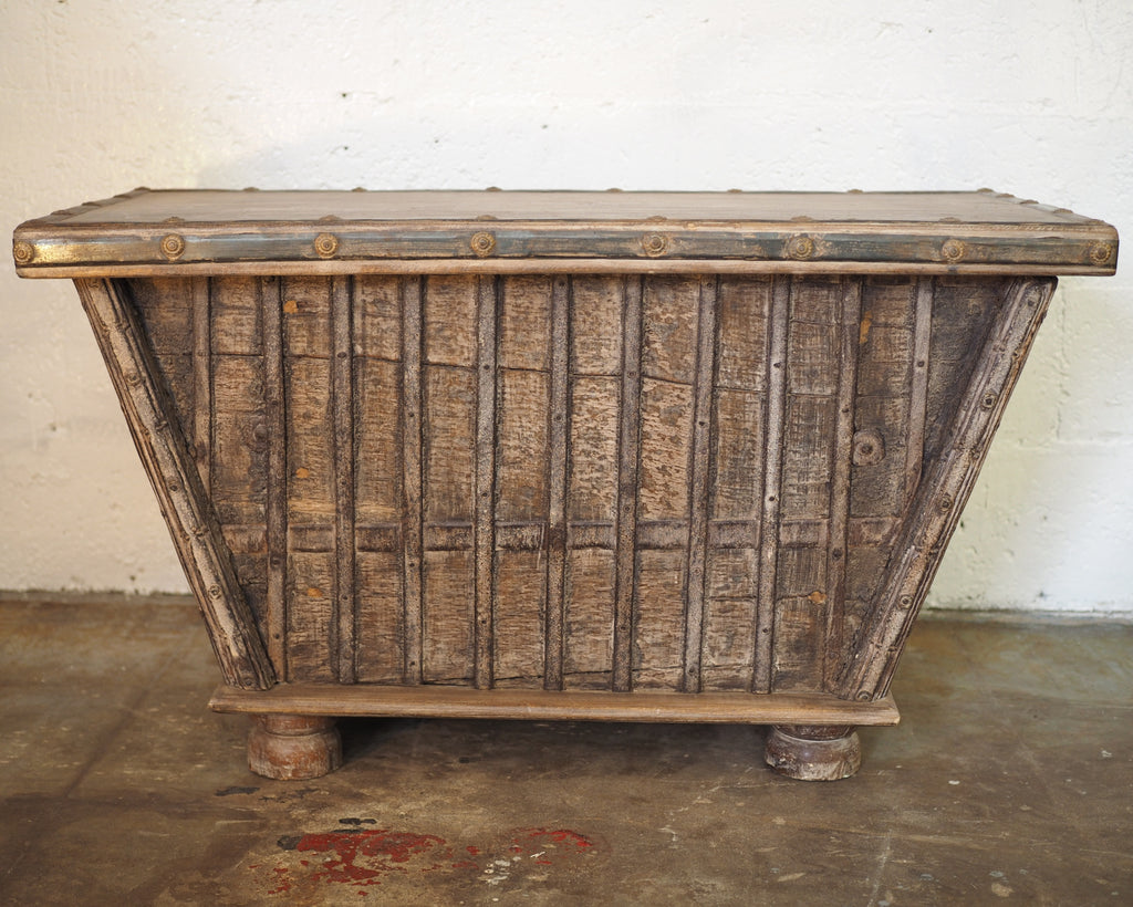 Decorative wood chest