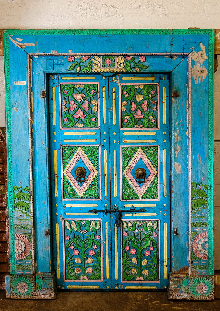 Antique Royal Blue Door