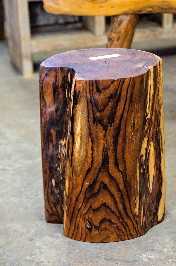Rosewood Natural Round Block Stool