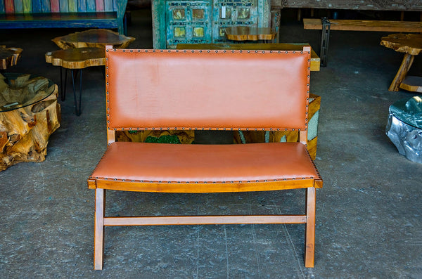 Kazari Cow Leather Bench