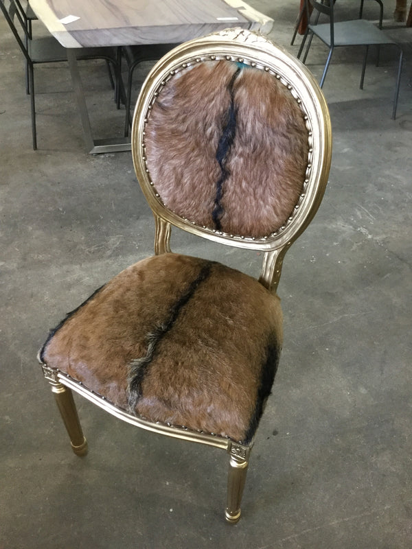 Menza Goat Hide French Chair