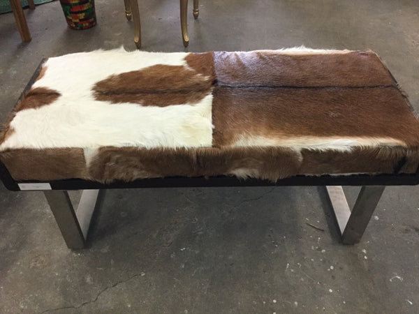 Kubo Goat Hide Bench