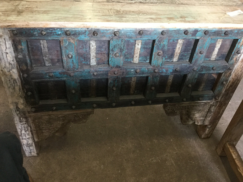 Antique shutter console