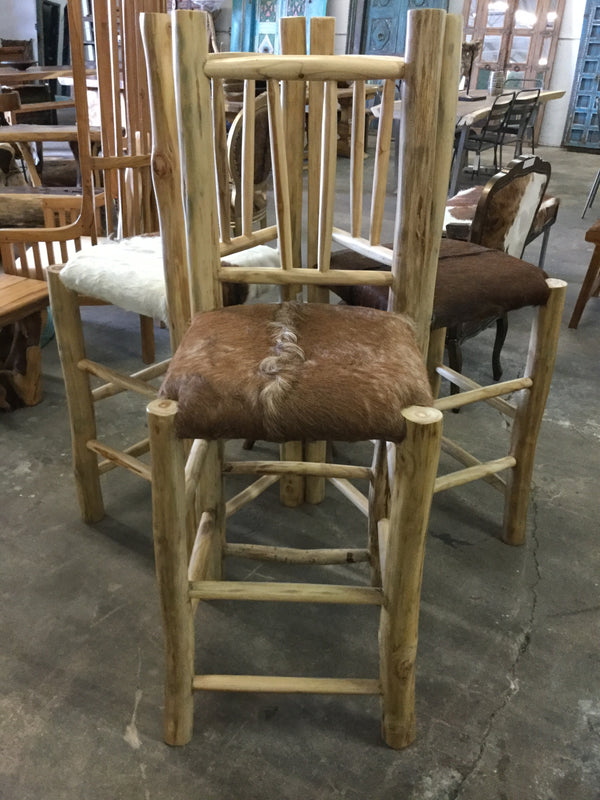 Emily Cow Hide Bar Chair