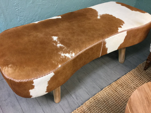 Savoy Cowhide Bench