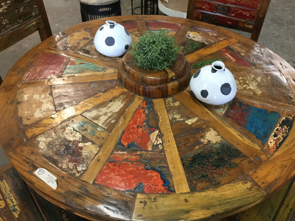 Boat wood table