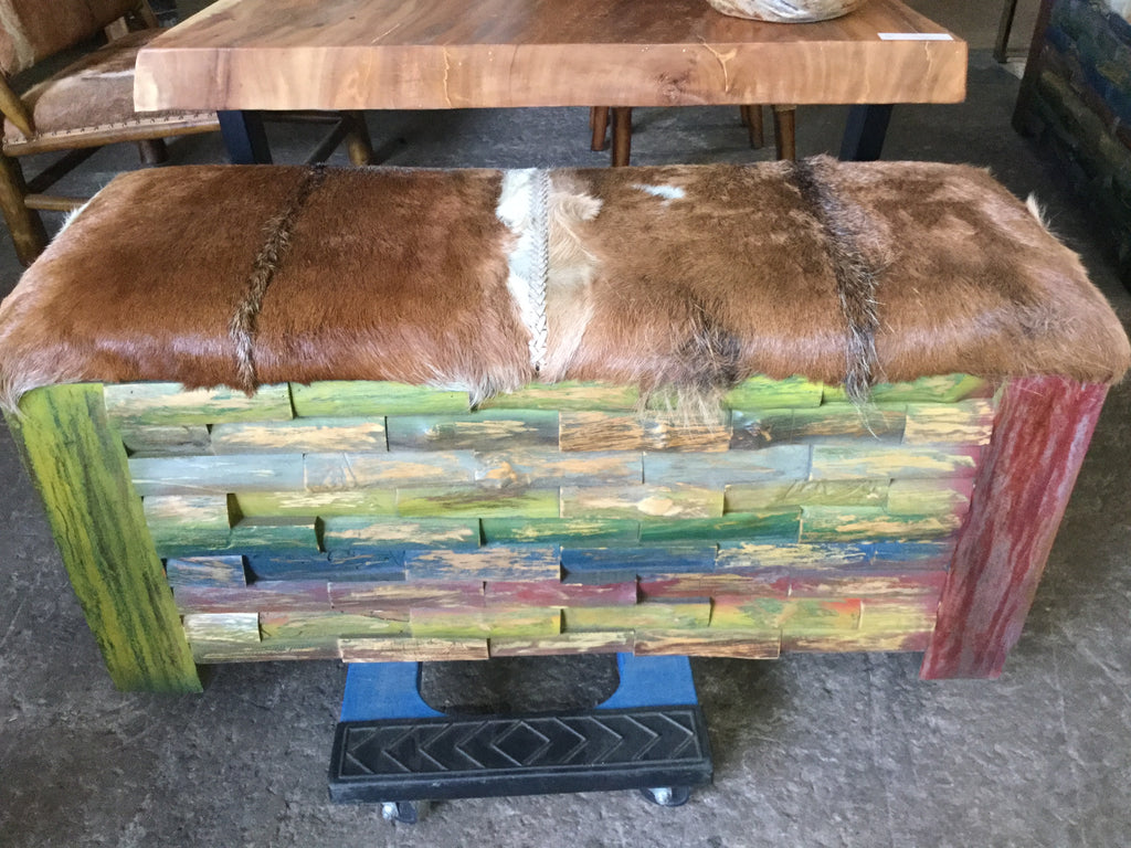 Siege Goat Hide Lounge Bench