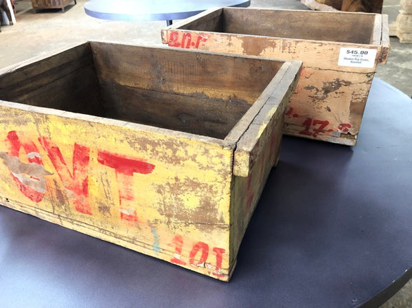 Wooden Pop Crate