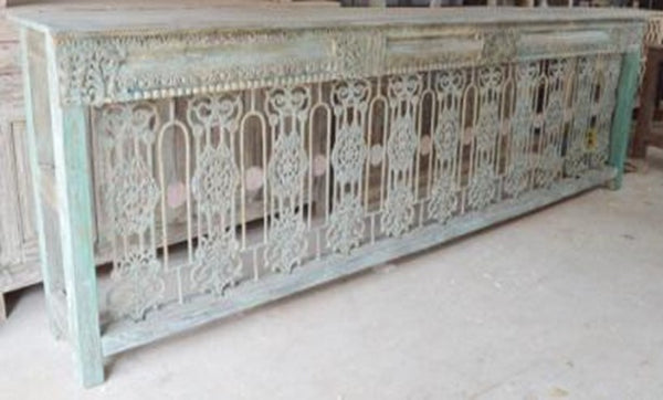 Wood & Iron Console Table
