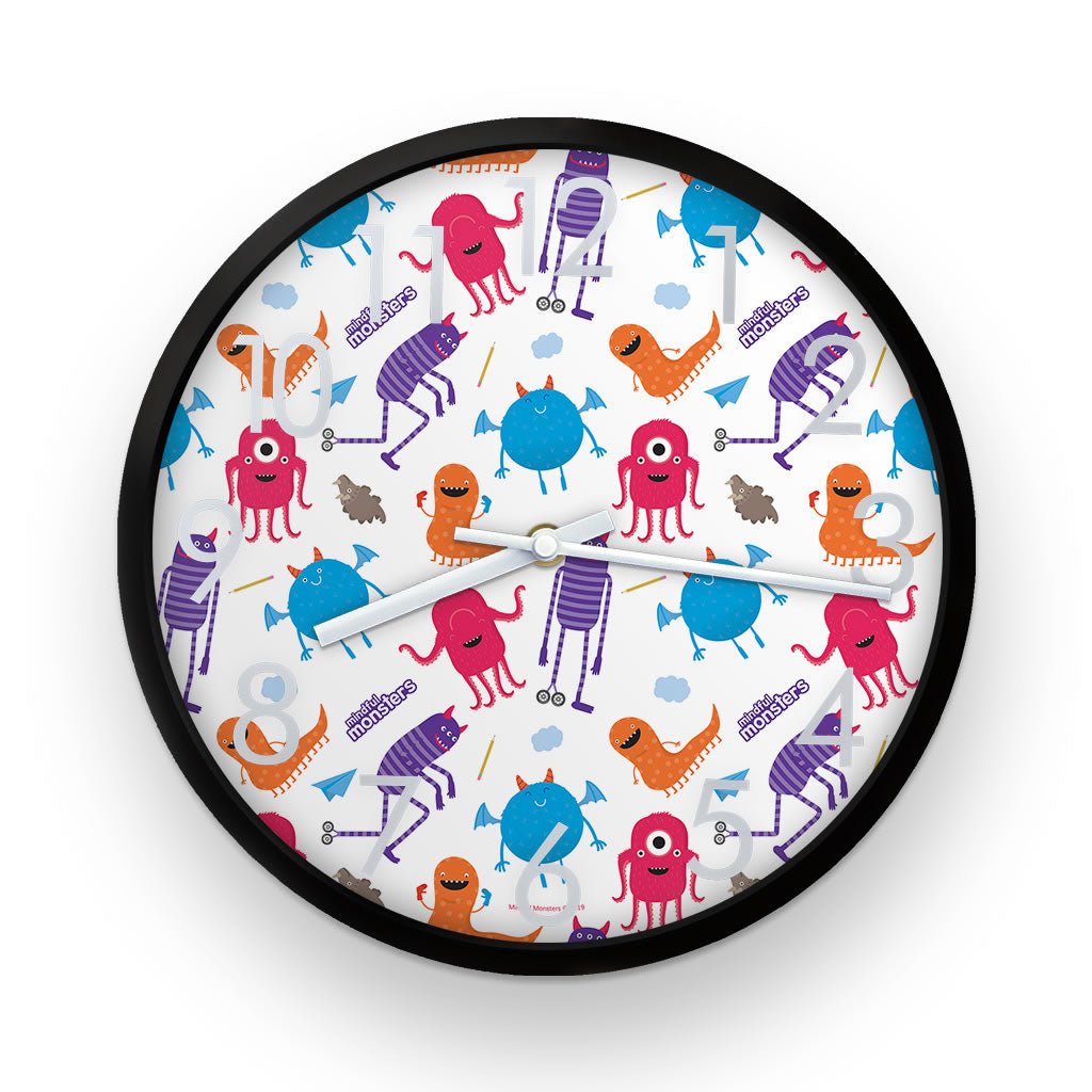 Monsters Pattern Clock