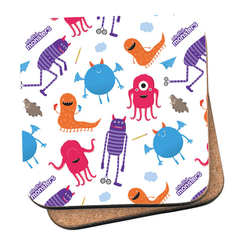 Monsters Pattern Coaster
