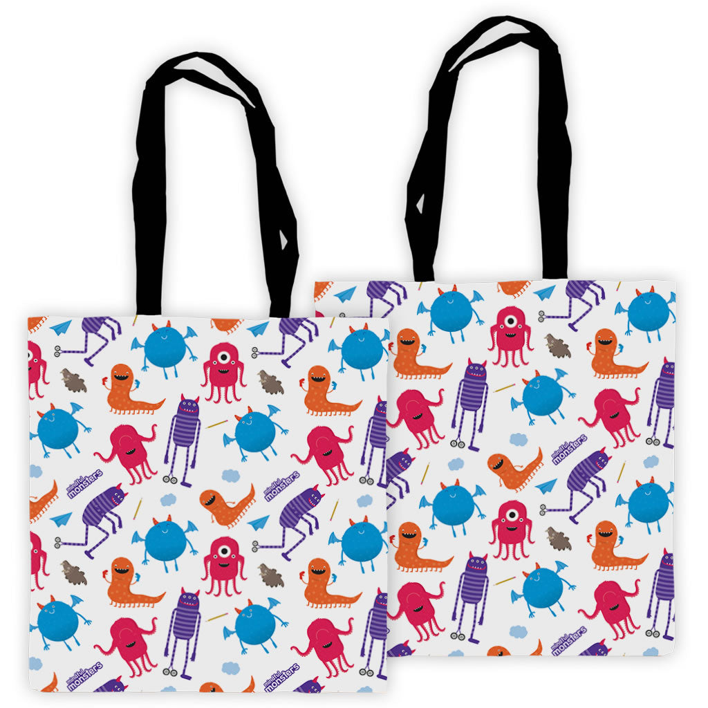 Monsters Pattern Edge to Edge Tote