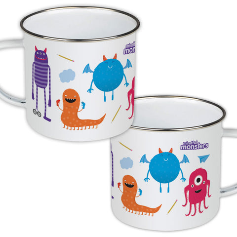 Monsters Pattern Enamel Mug