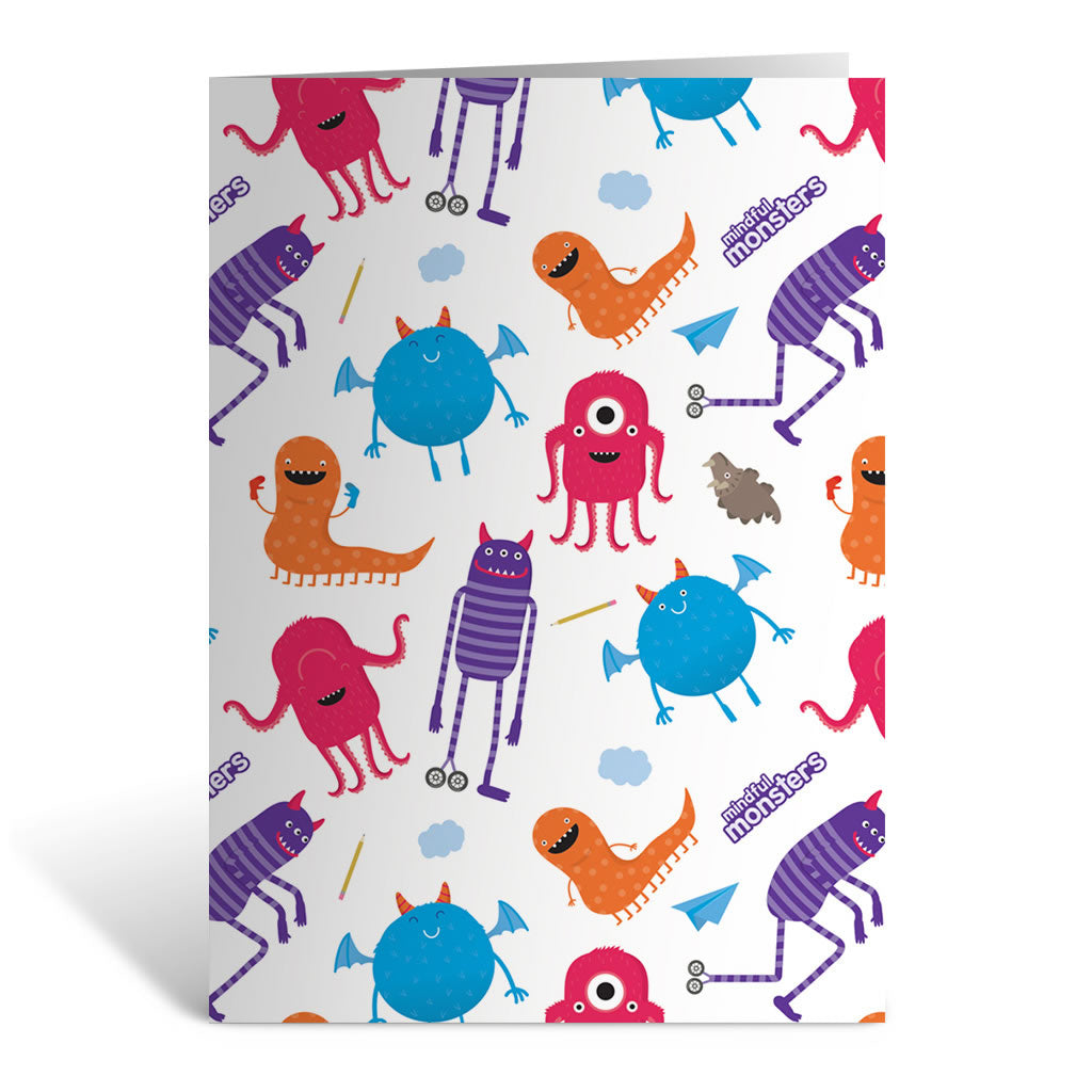 Monsters Pattern Greeting Card