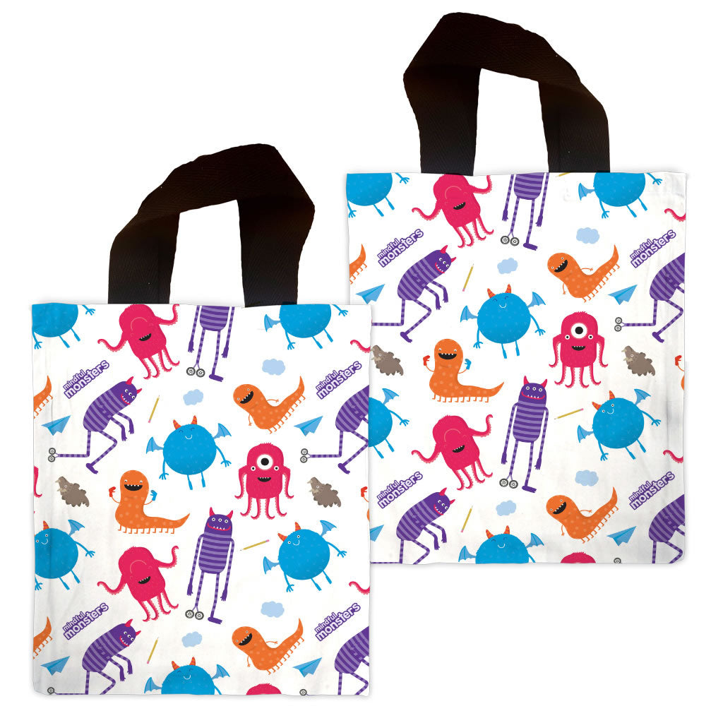 Monsters Pattern Mini Edge to Edge Tote