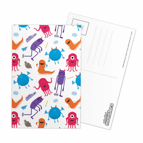 Monsters Pattern Postcard