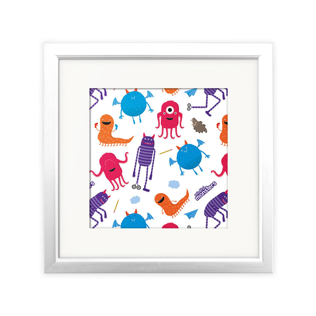Monsters Square Print