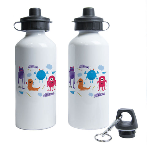 Monsters Pattern Water Bottle