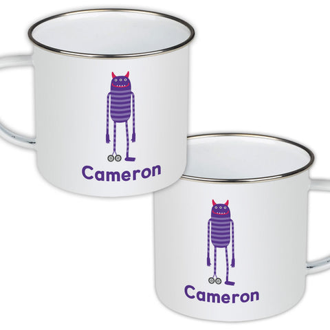 Thinky Personalised Enamel Mug