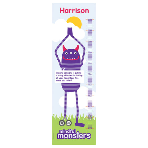 Monsters Personalised Height Chart