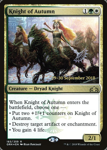 Knight of Autumn [Guilds of Ravnica Promos]