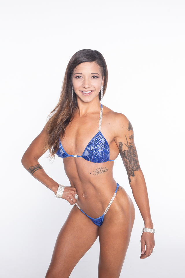 Royal Blue Sequin Competition Bikini
