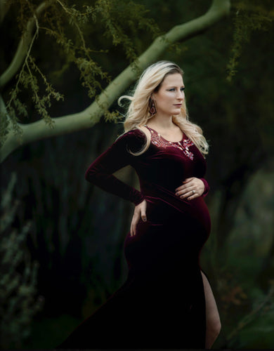 Velvet Gwendolyn Style Maternity Gown