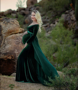 Velvet Evelyn Style Maternity Gown