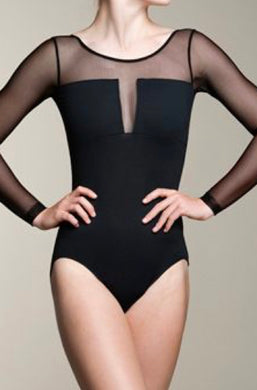 Long Mesh Sleeve Dance Leotard