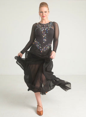 Symmetrical Smooth Dance Dress