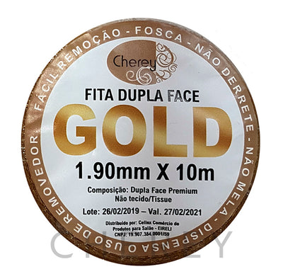 Fita Adesiva Dupla Face GOLD 1.90mm x 10m