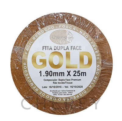 Fita Adesiva Dupla Face GOLD 1.90mm x 25m