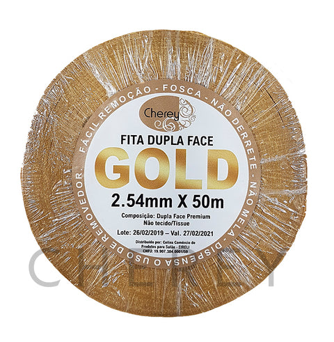 Fita Adesiva Dupla Face GOLD 2.54mm x 50m