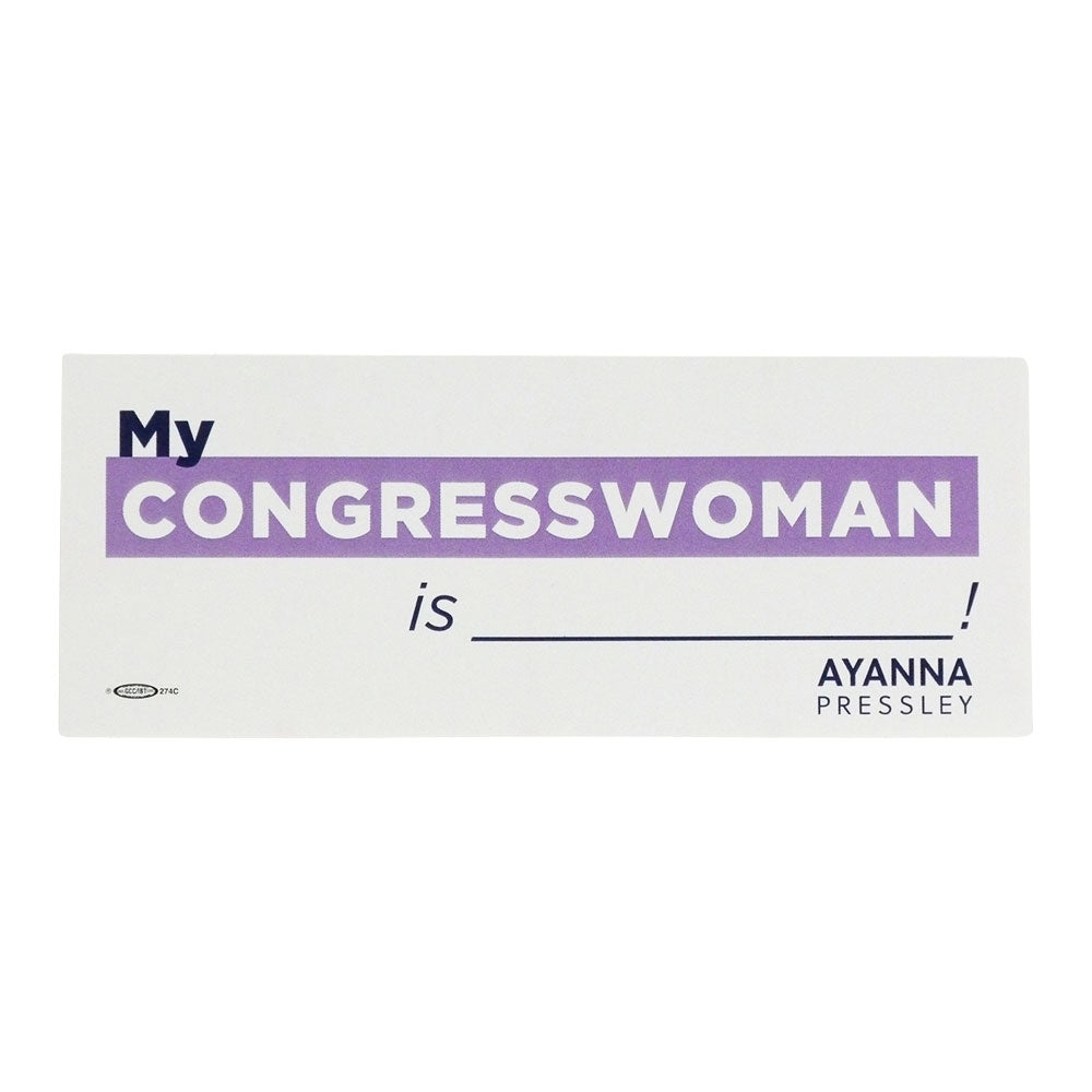 My Congresswoman Sticker (Pack of 5)