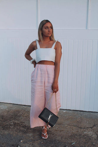 The Madison Pants in Baby Pink