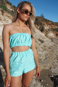 The Mila Shorts in Turquoise Blue