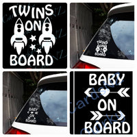 Twins board decals