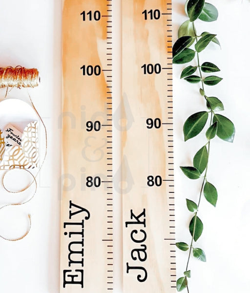 Custom made natural Height Chart with name