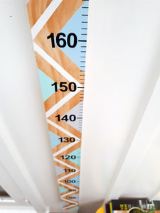 Handmade wooden height chart, made in New Zealand.