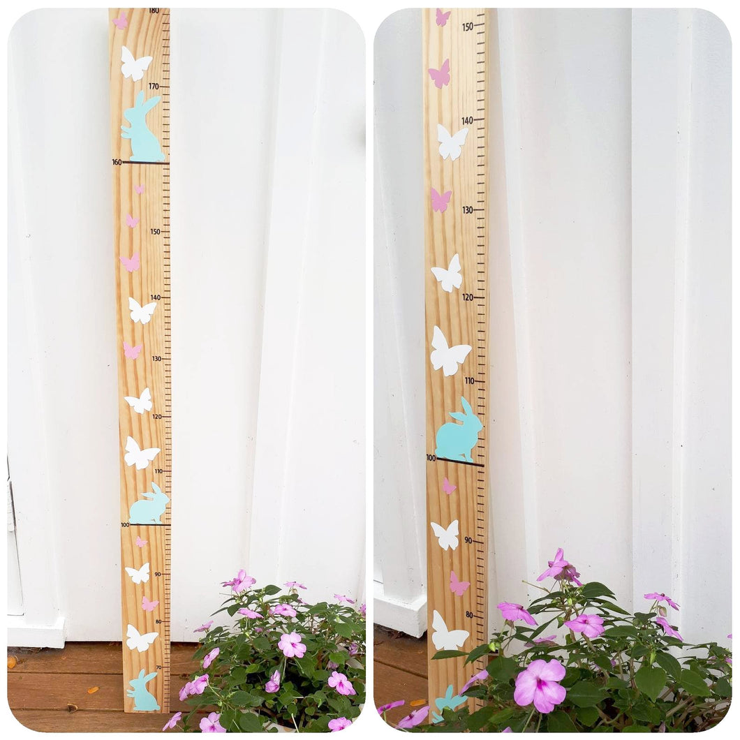 Handmade wooden height chart made in New Zealand, custom made timber height chart, growth chart