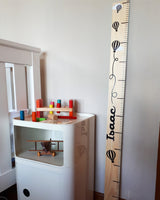 Handmade New Zealand height chart.