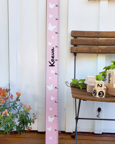 Wooden height chart made in New Zealand, girls height chart, pine wood height chart, tall timber height chart