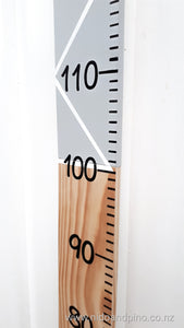 Wooden height chart made in New Zealand