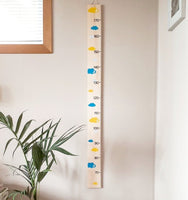 Wooden height chart made in New Zealand, timber height chart, kids height chart, tall timber height chart, pine height chart, measuring stick