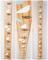 Growth chart made in New Zealand, tall pine wood height chart, kids height chart, hand made pine wood height chart