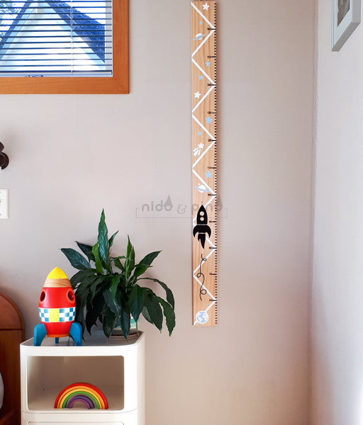 pine height chart, pine wood ruler, handmade height chart, nz made height chart